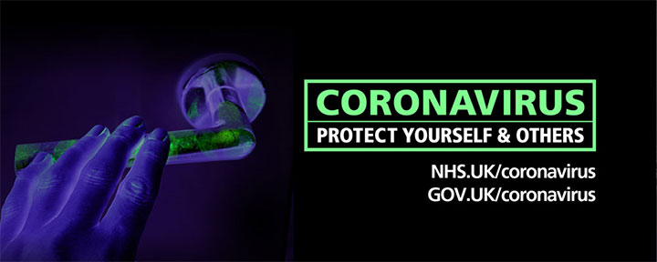 "Coronavirus poster, which says ""Protect Yourself & Others"""