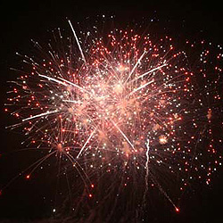 Free firework display a tremendous success as record crowd raises thousands for charity!