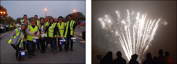 Vibrant Colour at Bradley Stoke Fireworks Display