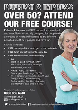 Refresh 2 Impress: Over 50?  Attend Our Free Course!