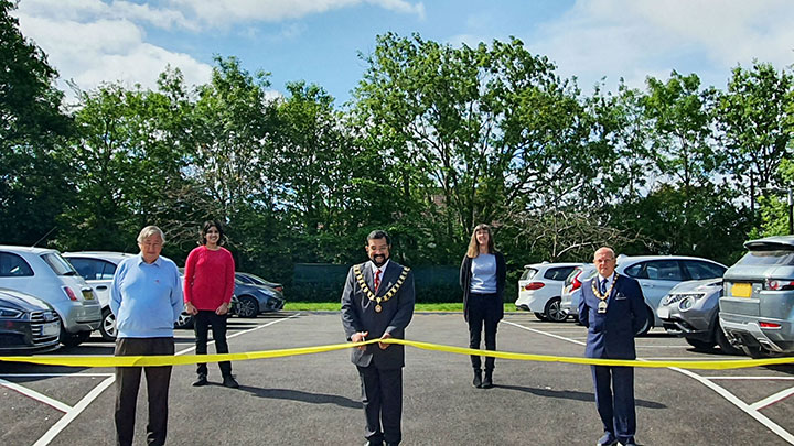 Mayor Tom Aditya inaugurating Brook Way Car Park opening 18th May 2020