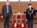 The Mayor attending a Remembrance Service at Christ the King Church