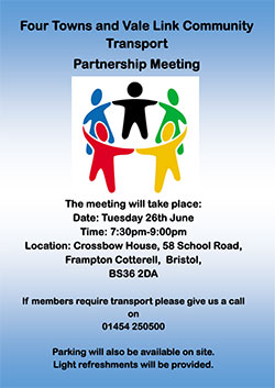 Four Towns and Vale Link Community Transport Partnership Meeting