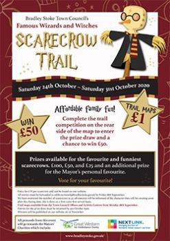 Scarecrow Trail event poster (all text content displayed on page)