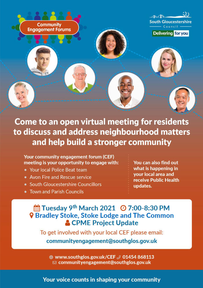 Virtual Community Engagement Forum Flyer (all text content on page)