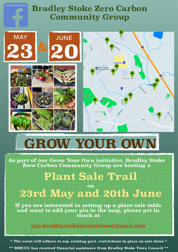 Plant Sale Trail poster (all text content in page)