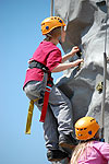 Fun on the Climbing Wall
