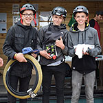 BMX 13 to 16 yrs: Taylor Harper (14) 1st; Ryan Day (15) 2nd; Csabar Molnar (14) 3rd