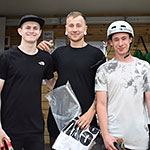 BMX 17 & over: Josh Holbrook 2nd; Robbie Williamson 1st; James Element 3rd