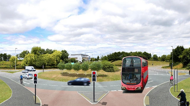 Artists impression of Metrobus Extension