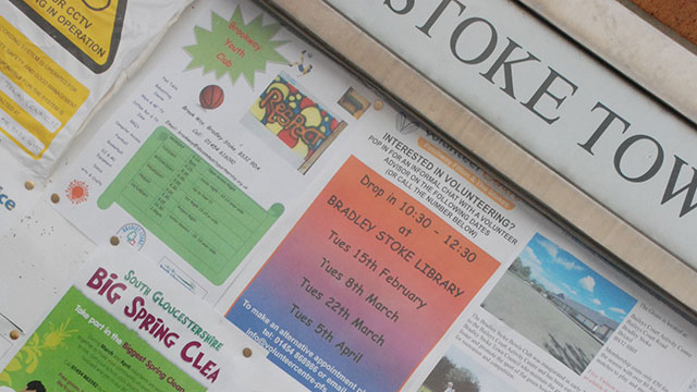 Photo of Town Council notice board