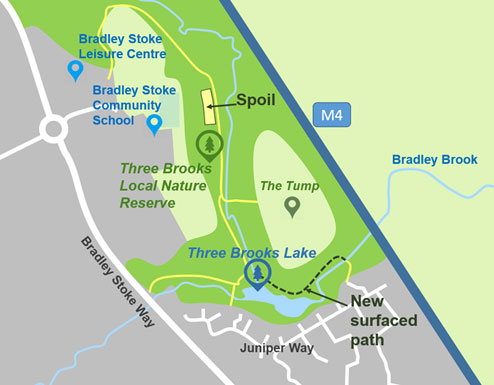 Map of Three Brooks Nature Reserve