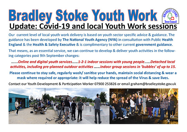 Coranavirus & Youth Work session closures poster